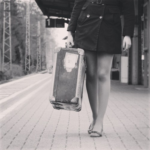 Luggage girl travel