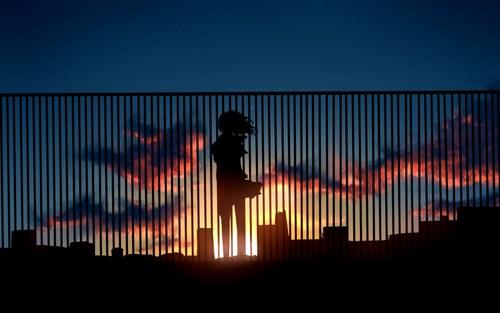 Girl sunset WHI