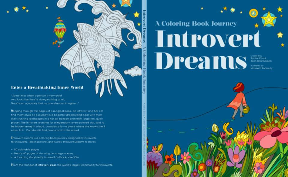 Introvert Dreams Coloring Book
