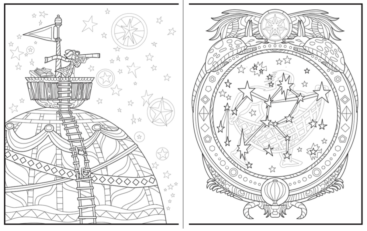 Introvert Dreams coloring book stars