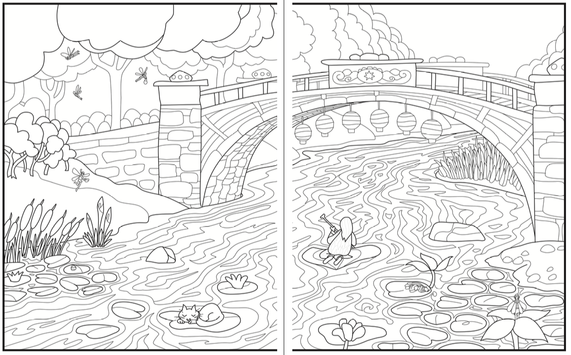 Introvert Dreams Coloring Book Nature