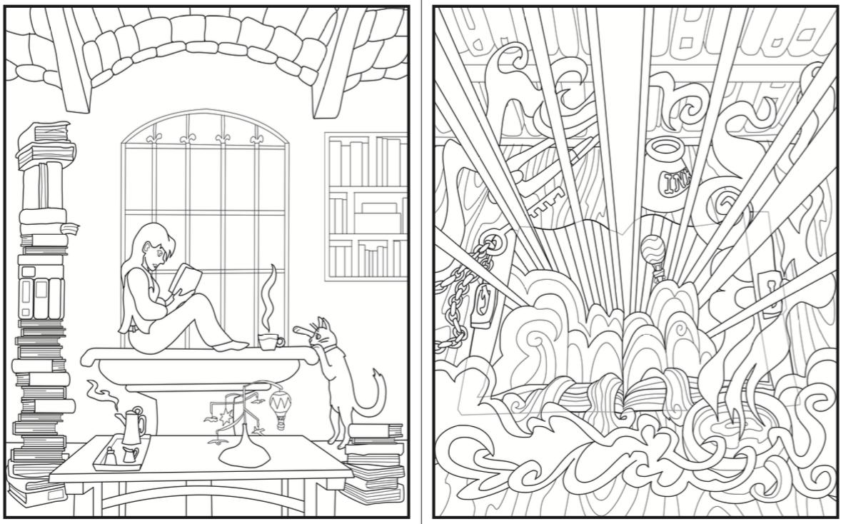 Introvert Dreams coloring book magical book