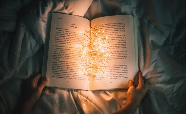 an introvert reads a book