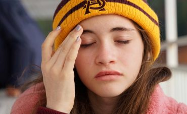 A woman experiences an introvert hangover.