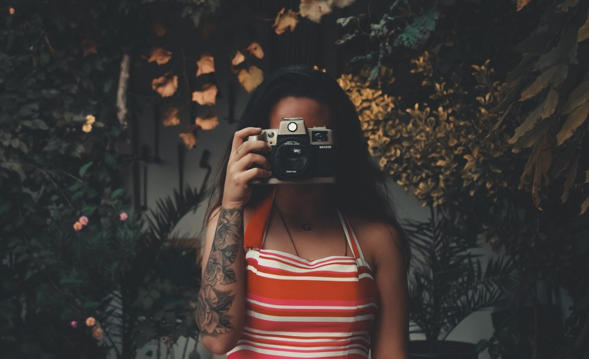 A highly sensitive introvert takes a photo.