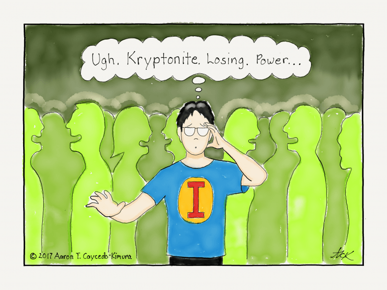 an introvert's kryptonite is a party