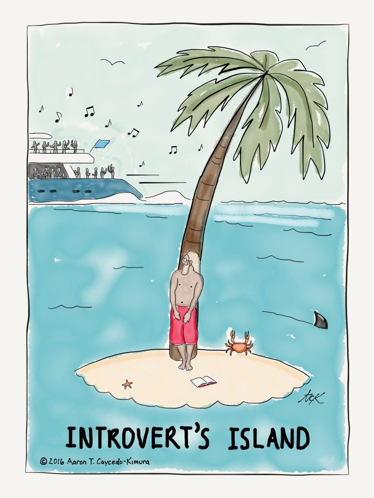an introvert on a deserted island