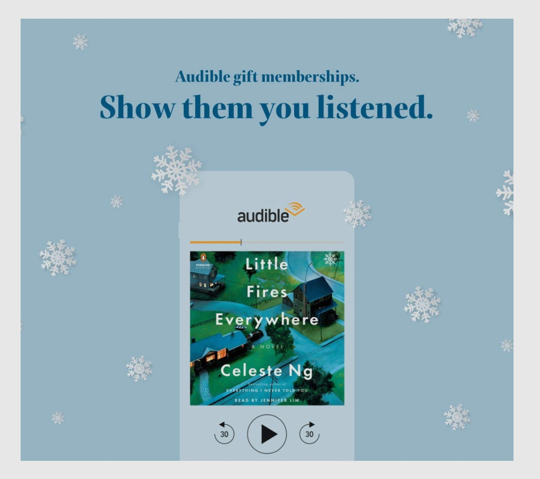 gifts for introverts Audible