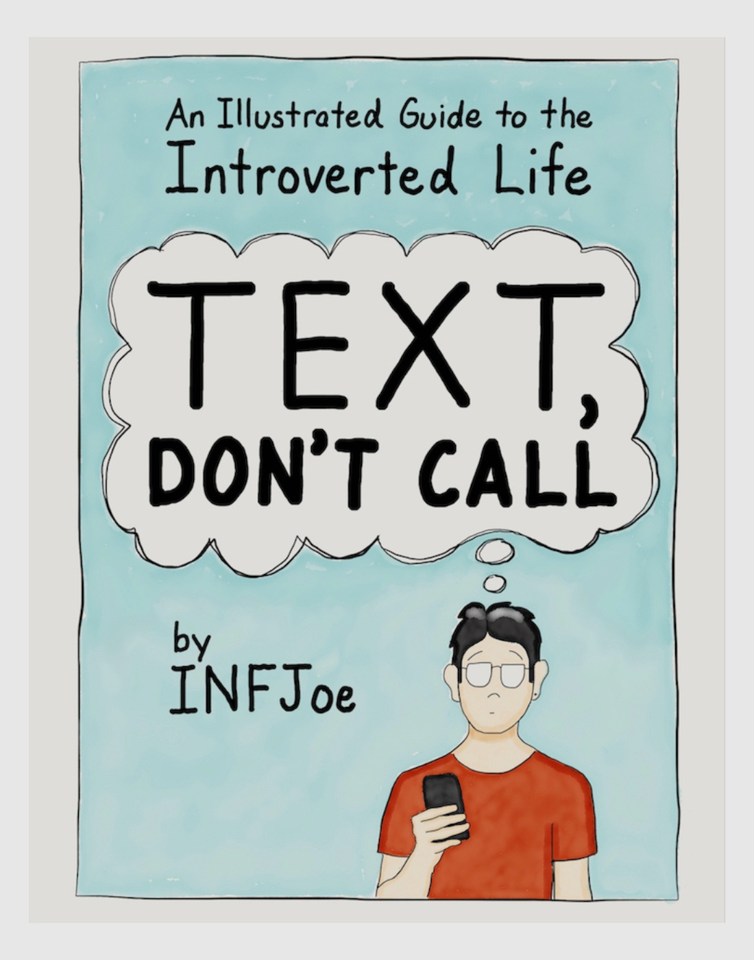 Text Don't Call book cover gift for introverts