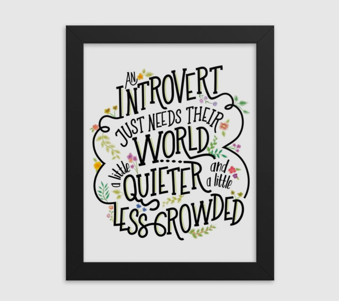 gifts for introverts framed art quieter