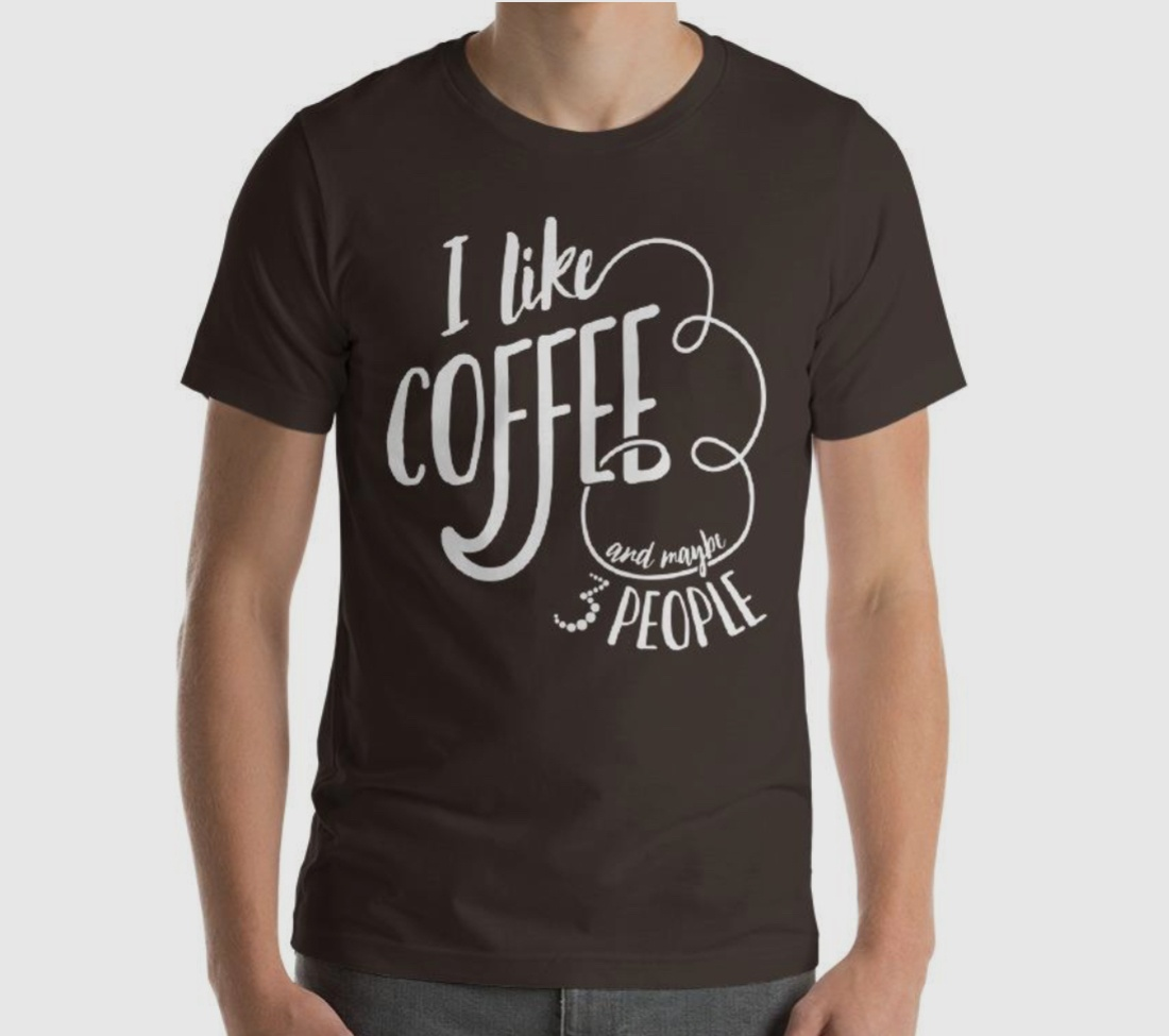 gifts for introverts men's shirt coffee