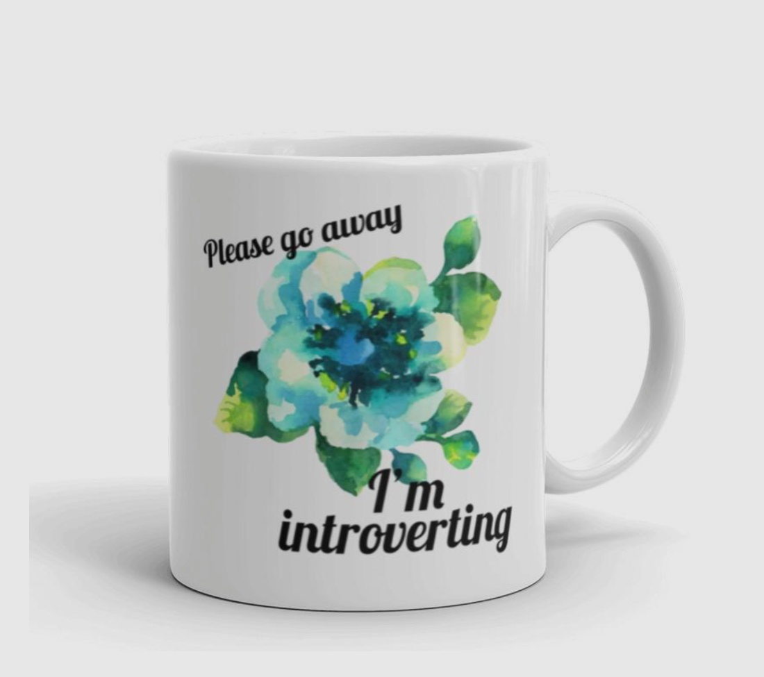 gifts for introverts mug go away