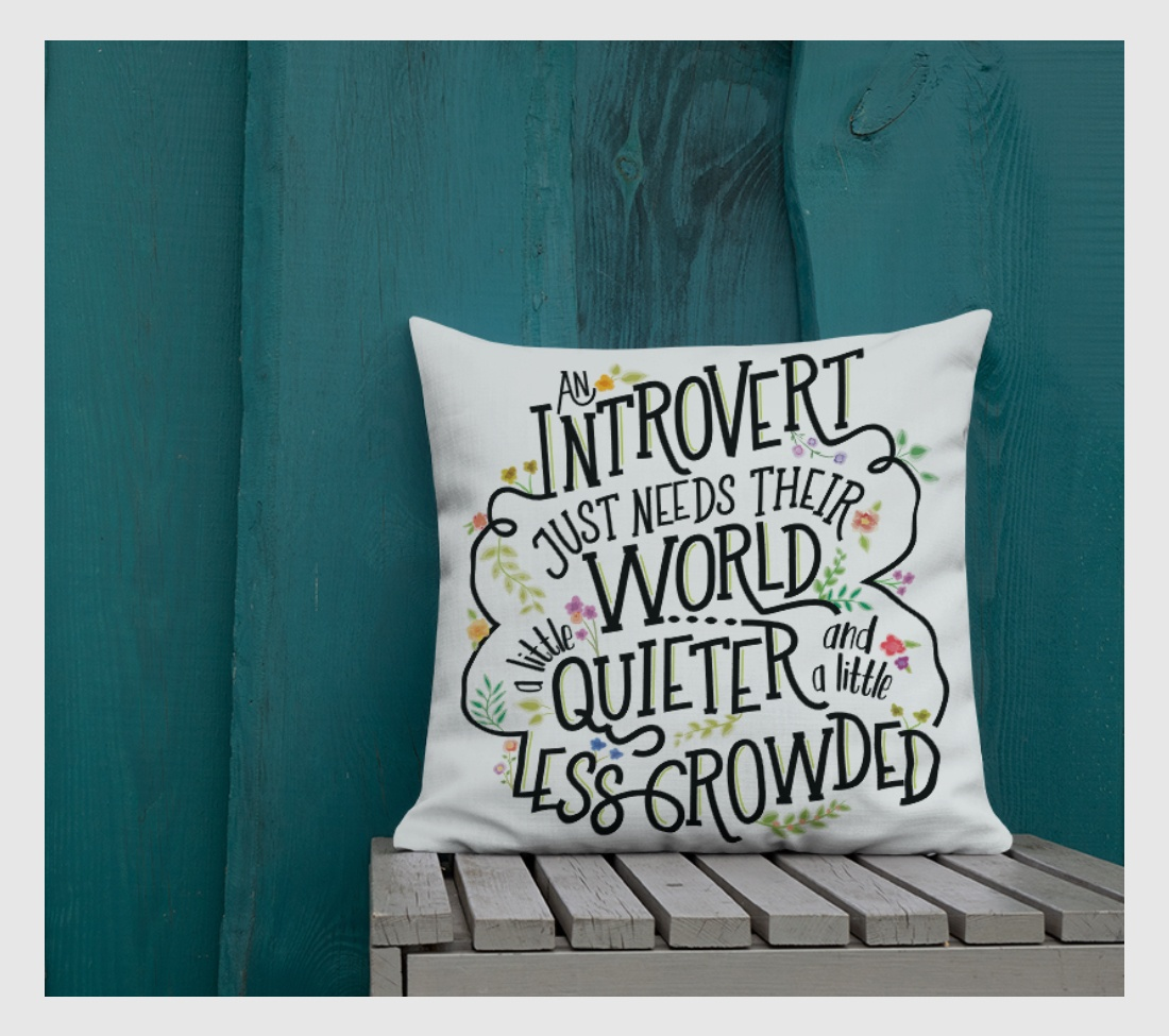gifts for introverts pillow quieter world