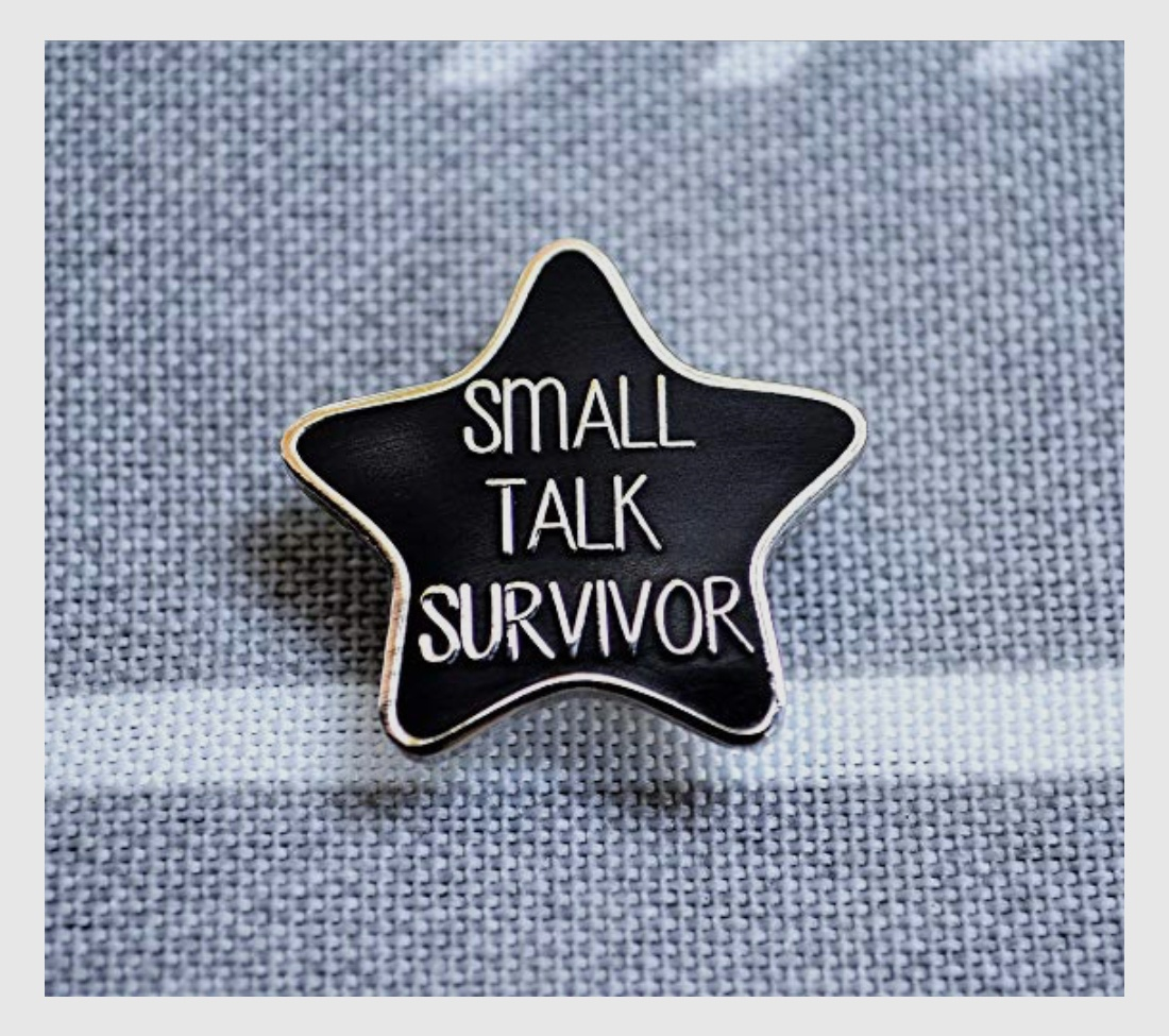 gifts for introverts pin small talk