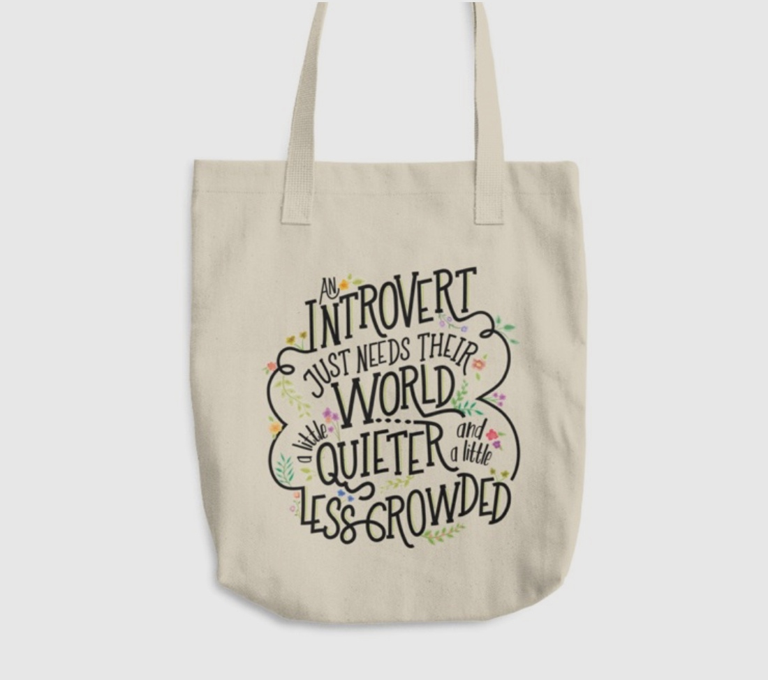 gifts for introverts tote bag