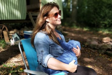 an introvert mom relaxes with her tribe