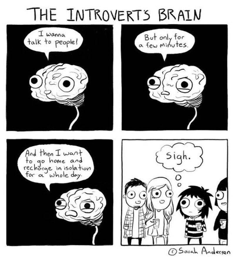 the introvert's brain meme