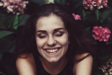 an INFJ personality smiles