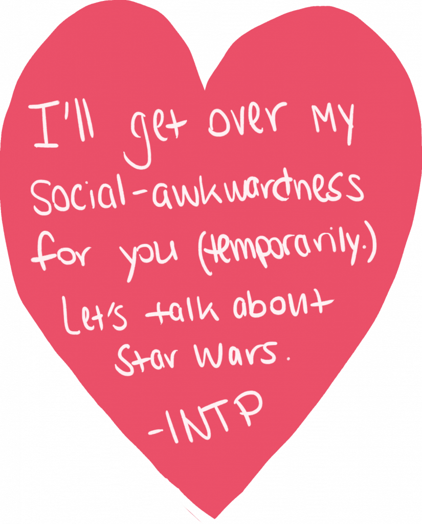 a valentine from an INTP personality