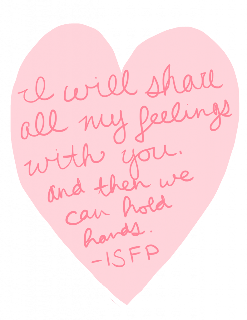 a valentine from an ISFP personality