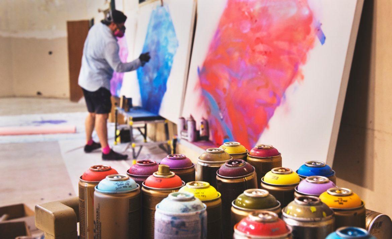an INTJ artist paints