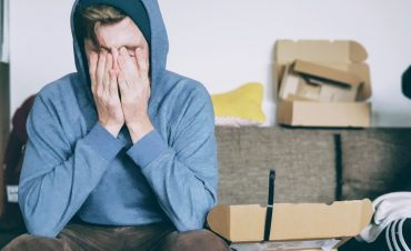 an introvert is stressed on moving day