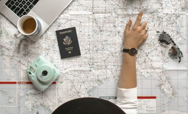 an introvert looks at a travel map