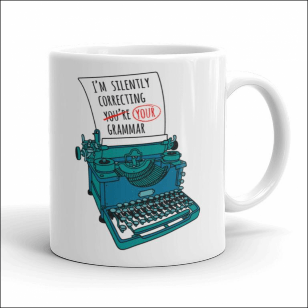 I'm silently correcting your grammar gift mug for introverts
