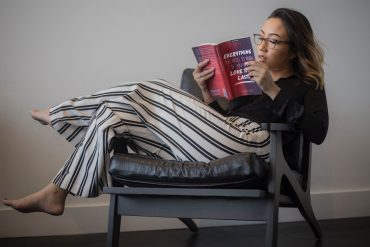 a quiet introvert reading