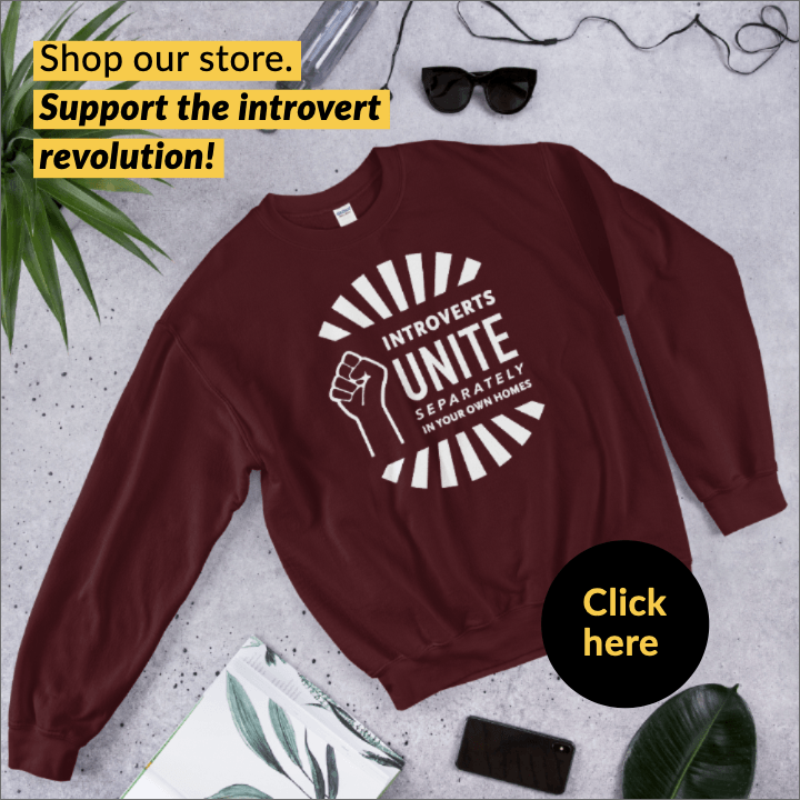 introverts unite separately in your own homes sweatshirt in red