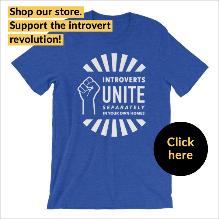 """introverts unite separately in your own homes"" t-shirt for introverts"