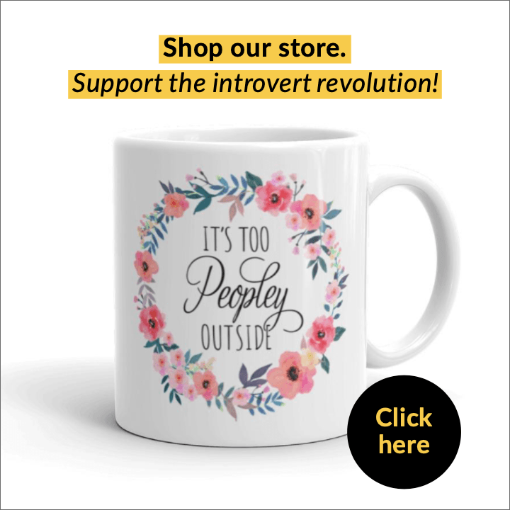 "introvert mug ""it's too peopley outside"""
