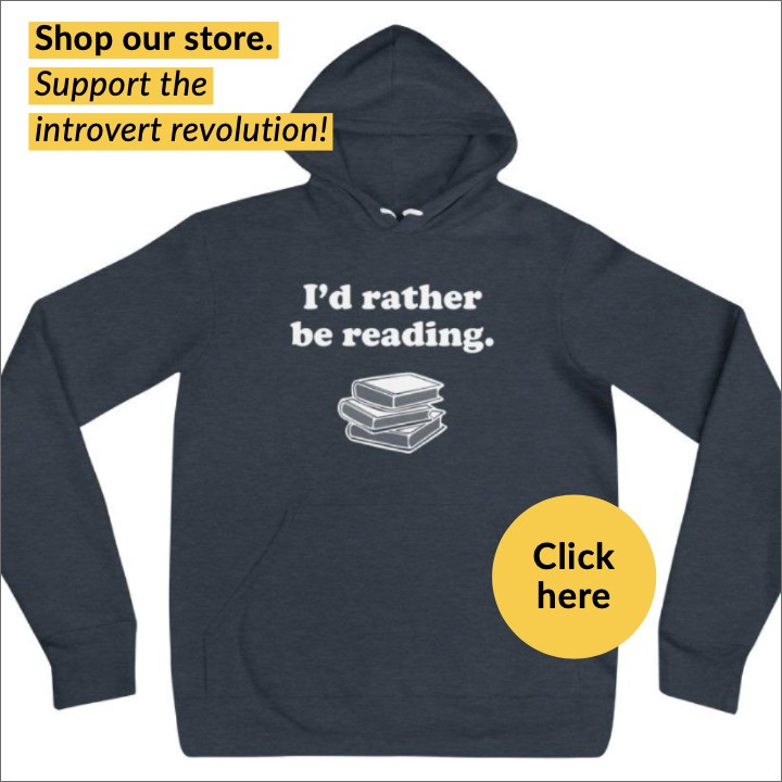 "hooded sweatshirt for introverts ""I'd rather be reading"""