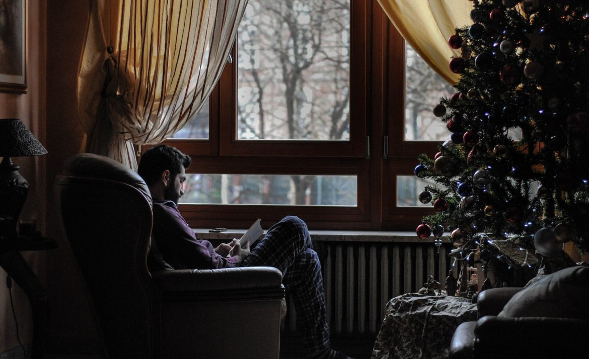 an introvert avoids socializing during the holidays