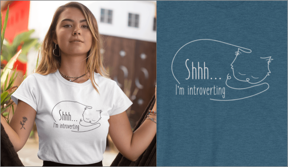 shhh... I'm introverting t-shirt