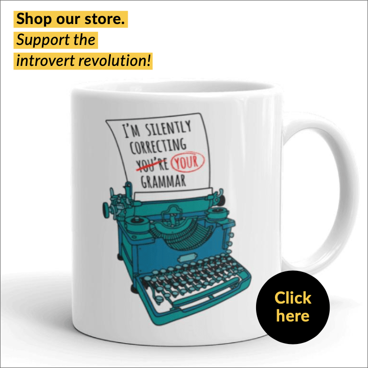 """mug for introverts """"I'm silently correcting your grammar"""""""