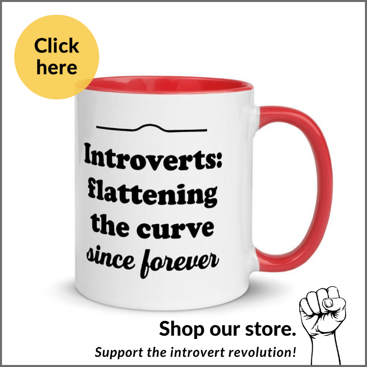 introverts flattening the curve since forever mug