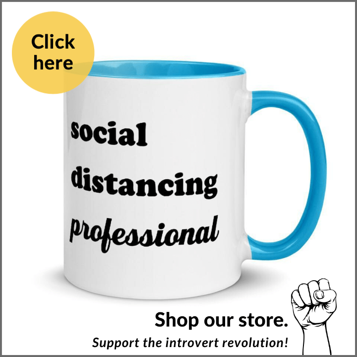 social distancing professional mug for introverts
