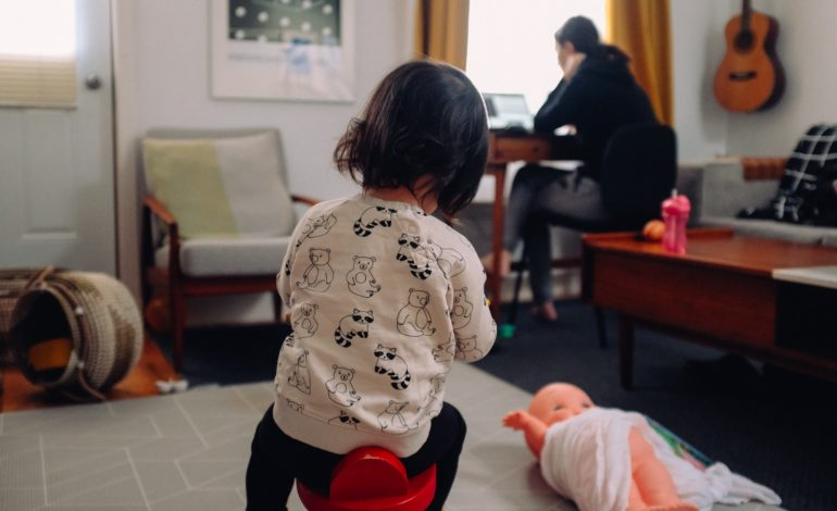an introvert parent works from home