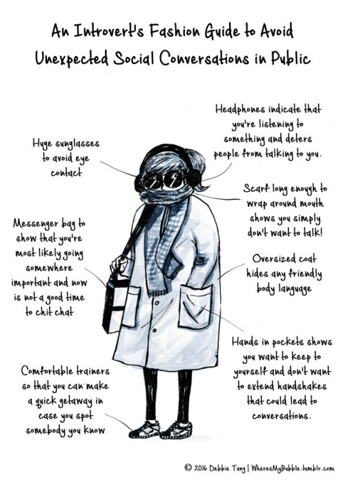 a Debbie Tung comic about an introvert's guide to fashion