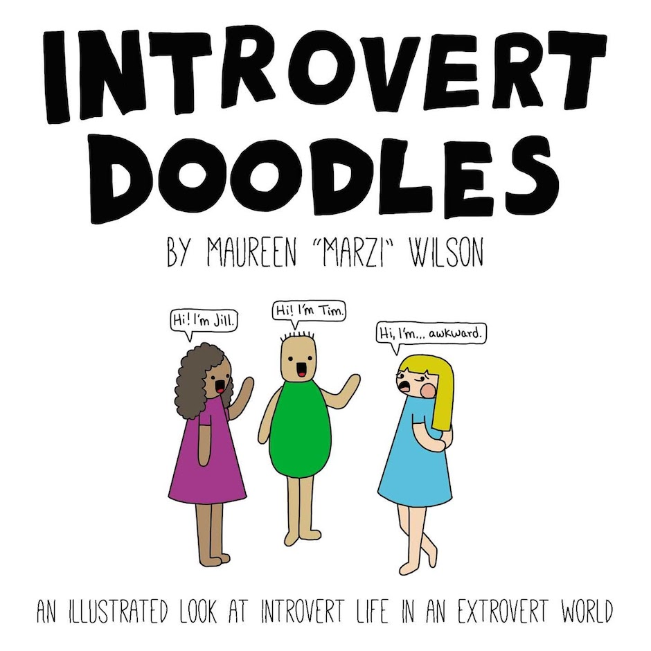 Introvert Doodles by Maureen Marzi Wilson book cover