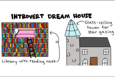 a comic from a funny illustrated book for introverts