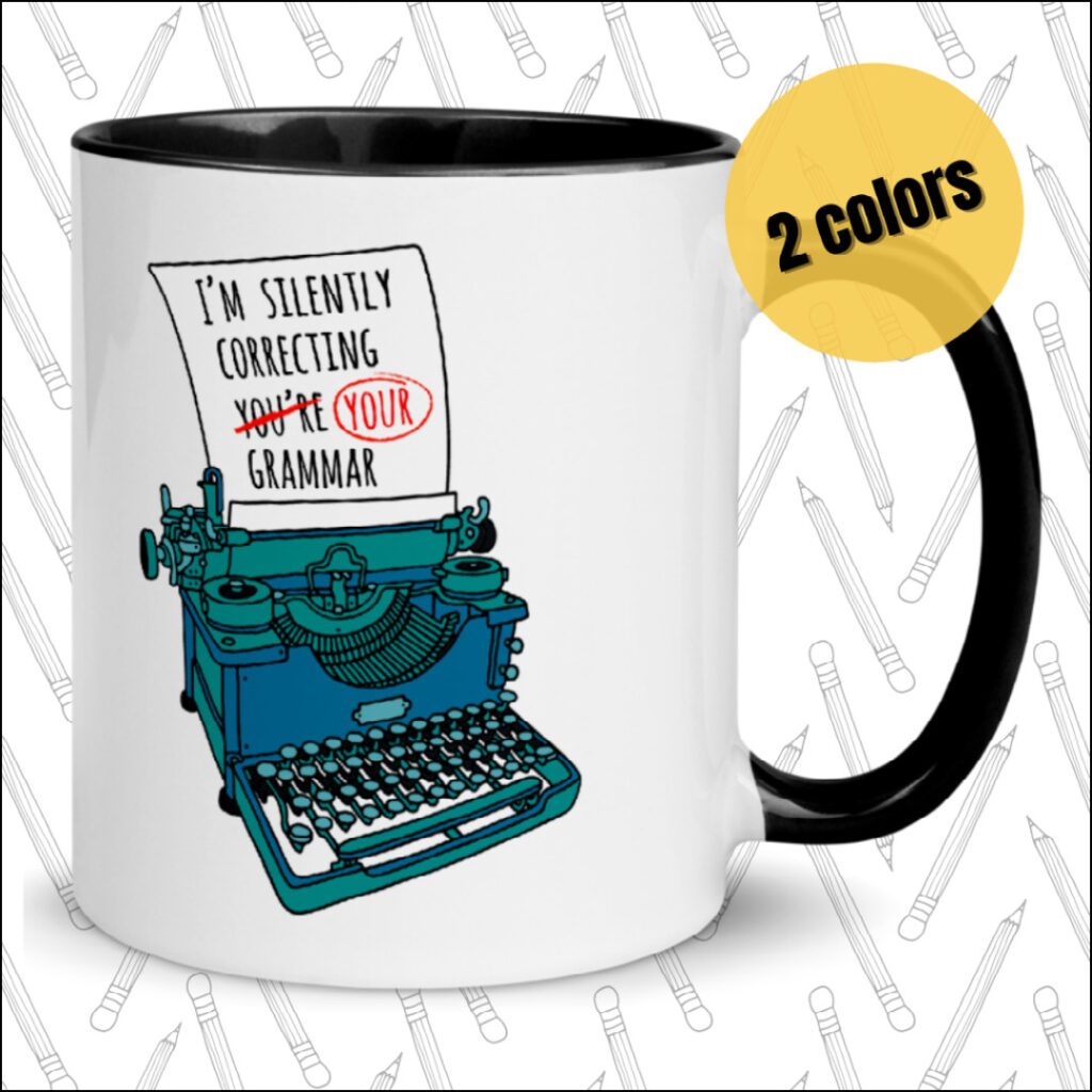 I'm silently correcting your grammar introvert gift