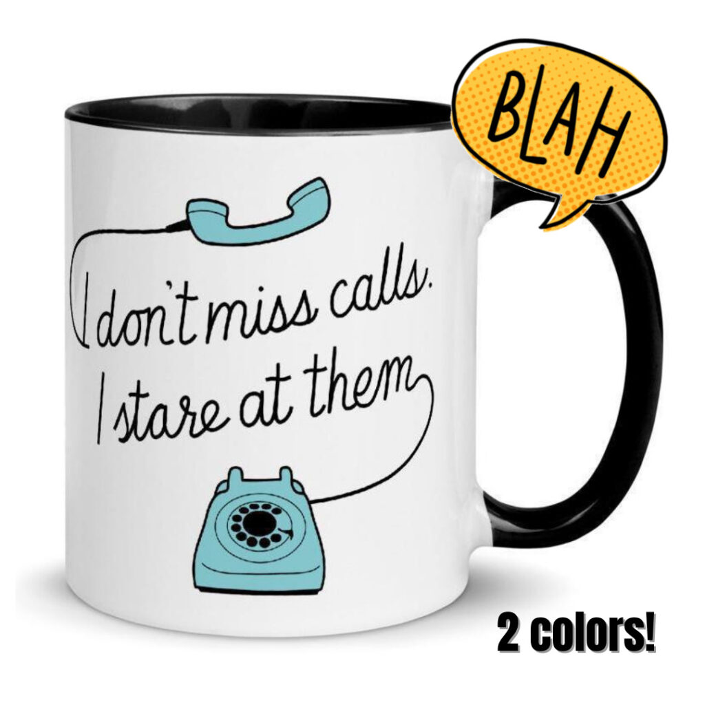 best gifts for introverts missed calls mug