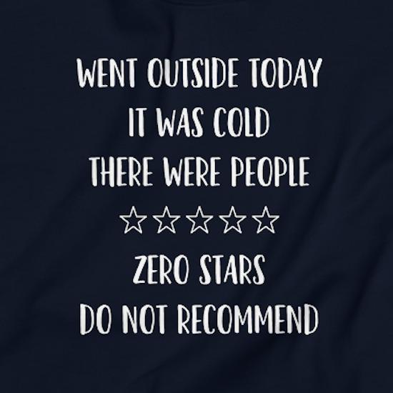 best gifts for introverts zero stars sweatshirt