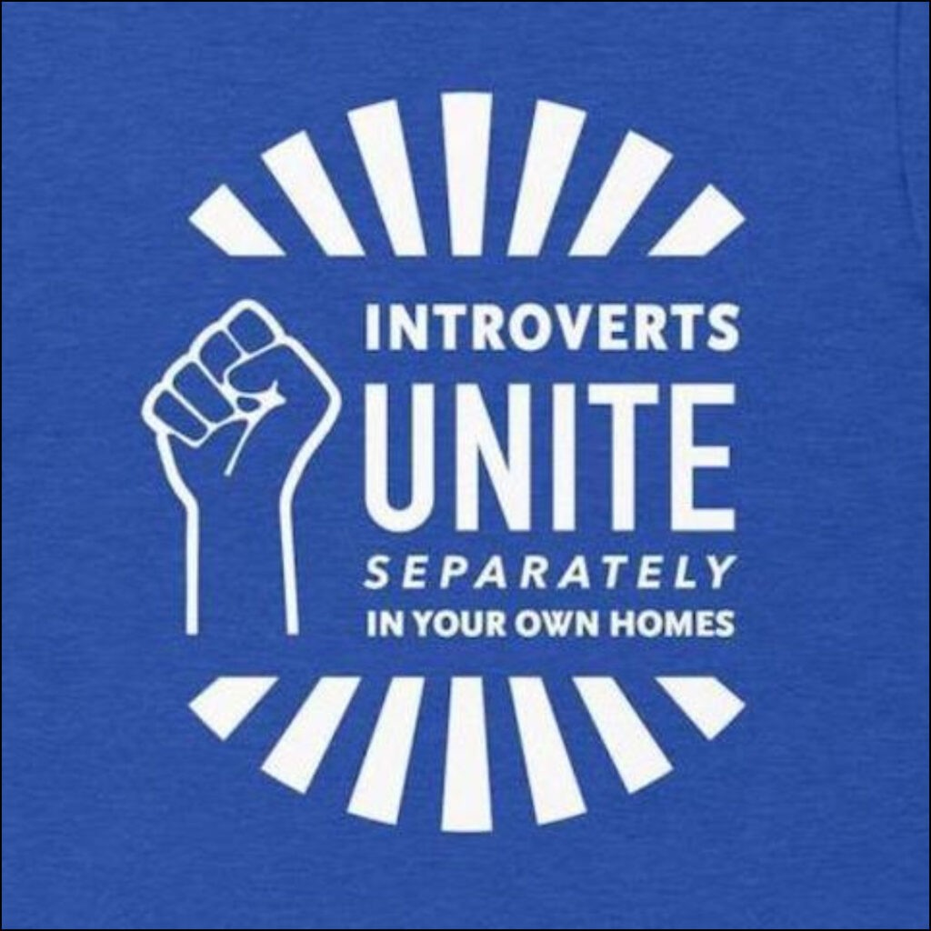introverts unite separately in your own homes gift for introverts