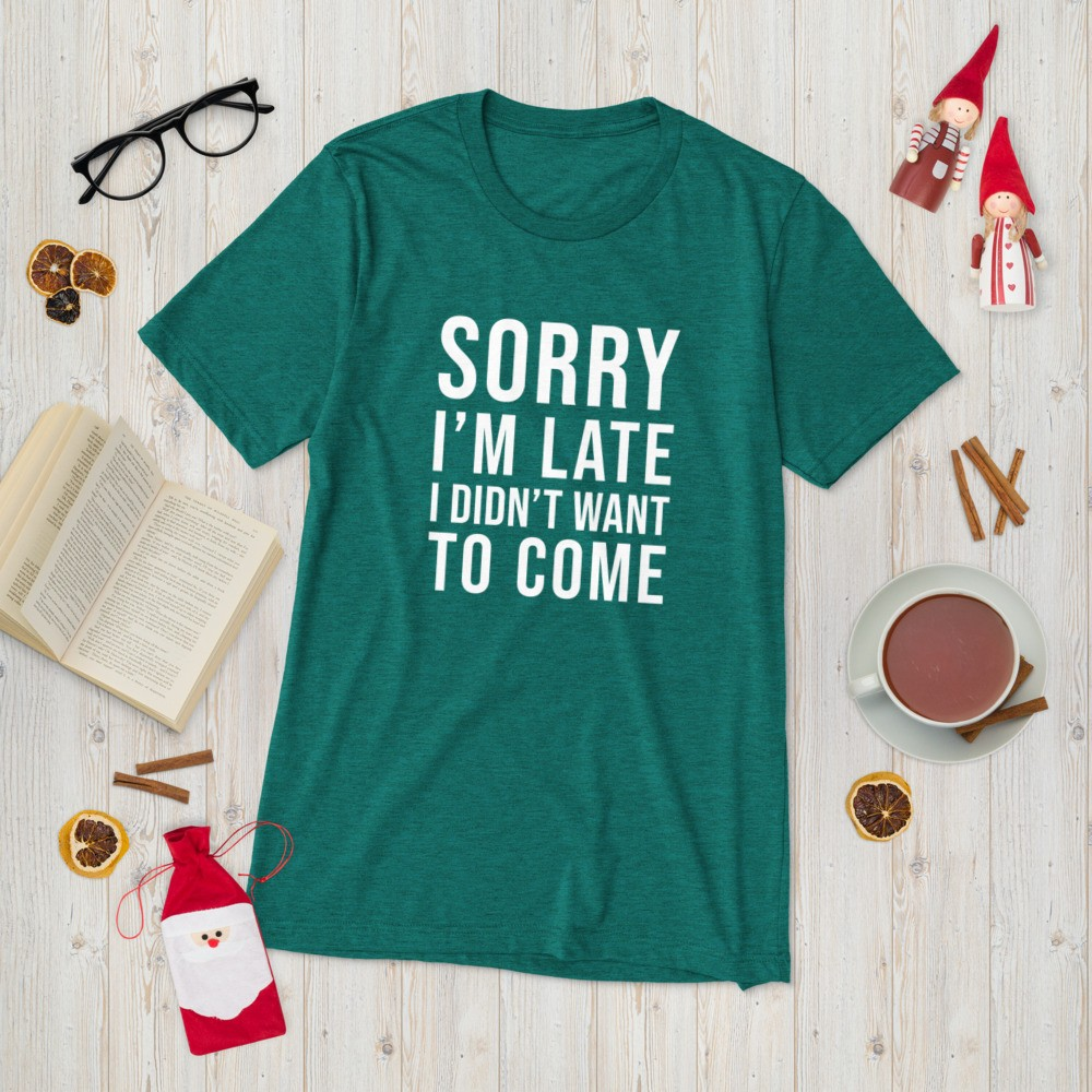 sorry I'm late I didn't want to come holiday gift for introverts
