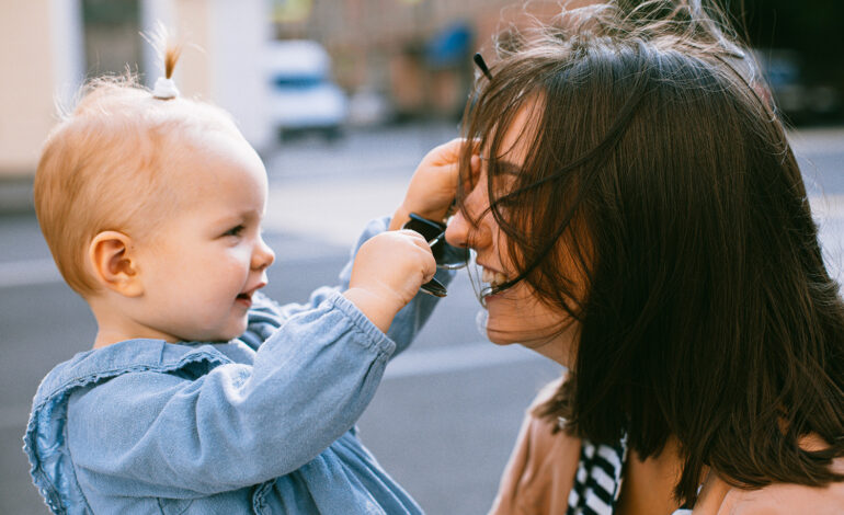 an introverted new mom and her daughter