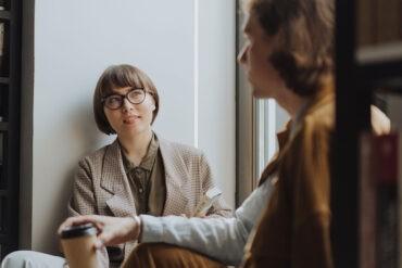 An introvert talking