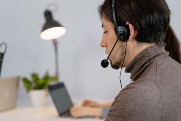 An introvert working at a call center